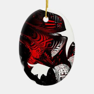 Fractal Party Ceramic Ornament