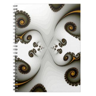 Fractal Passageway Spiral Notebook