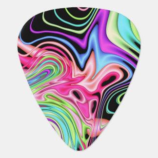 Fractal Pastel Swirls Guitar Pick
