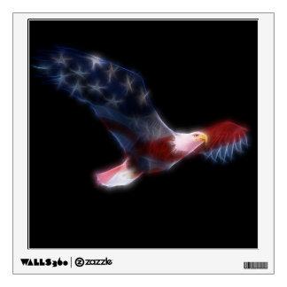 Fractal Patriotic Bald Eagle Wall Decal