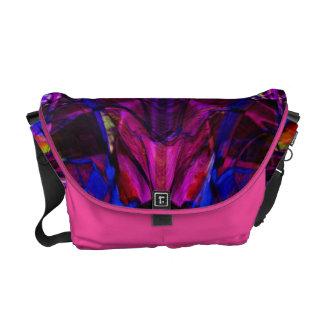 Fractal Pattern in Purple Messenger Bag