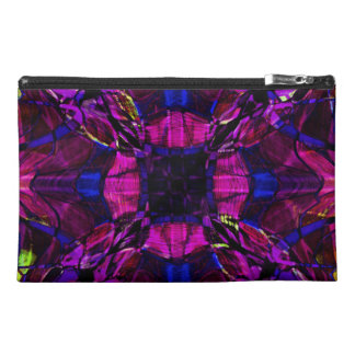 Fractal Pattern in Purple Travel Accessory Bag