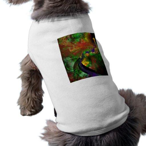Fractal - pavo real ropa de perro