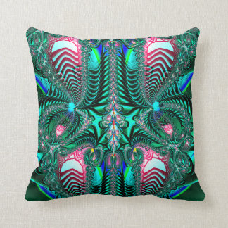 Fractal:  Peacock Feathers Pillow