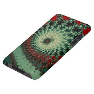 Fractal picante picante caliente - verde y rojo iPod touch funda