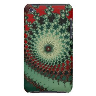 Fractal picante picante caliente - verde y rojo iPod Case-Mate protectores