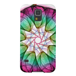 Fractal Pink Blue Cases For Galaxy S5