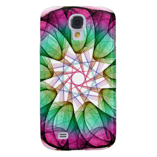Fractal Pink Blue Galaxy S4 Cover
