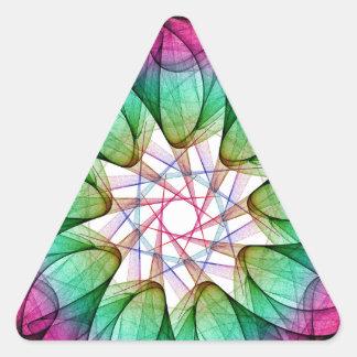 Fractal Pink Blue Triangle Sticker