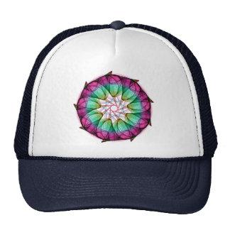 Fractal Pink Blue Trucker Hat