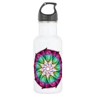 Fractal Pink Blue Water Bottle