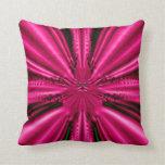 Fractal: Pink Brocade Pillow