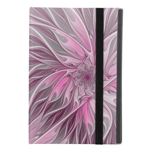 Fractal Pink Flower Dream, Floral Fantasy Pattern iPad Mini 4 Case