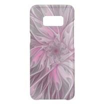 Fractal Pink Flower Dream, Floral Fantasy Pattern Uncommon Samsung Galaxy S8 Case
