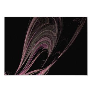 Fractal Pink Flows Invitation