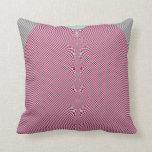 Fractal: Pink Gingham Pillow