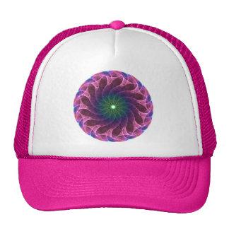 Fractal Pink Green Trucker Hat
