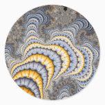 Fractal Plates - Fractal Classic Round Sticker