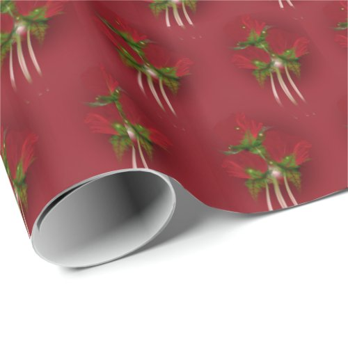 Fractal Poppies Holiday Wrapping Paper
