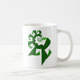 Fractal Power - Green Coffee Mug