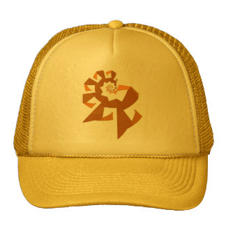 Fractal Power - Orange Trucker Hats