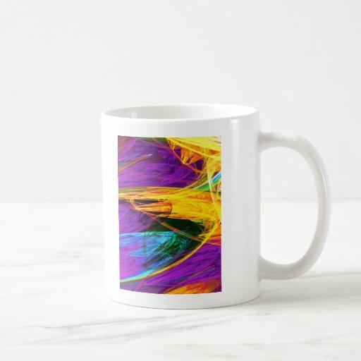 Fractal - primer del ala de la mariposa taza