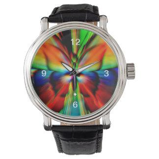 Fractal psicodélico de la mariposa relojes