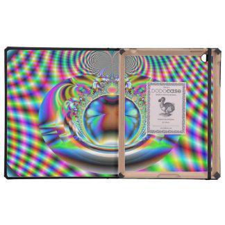 Fractal psicodélico de los rayos laser del arco