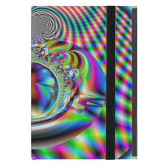 Fractal psicodélico de los rayos laser del arco iPad mini cobertura