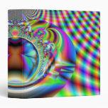 Fractal psicodélico de los rayos laser del arco ir