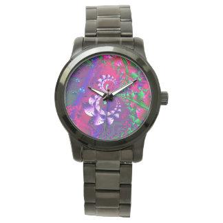 Fractal psicodélico de Nerdberries Reloj