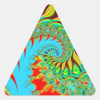 Fractal psicodélico del arte del remolino calcomania trianguladas personalizadas