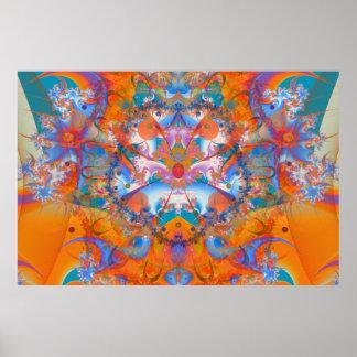 Fractal psicodélico del puente del arco iris posters
