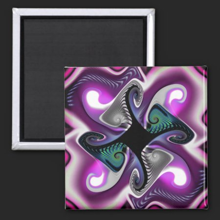 Fractal Purple Aura Magnet