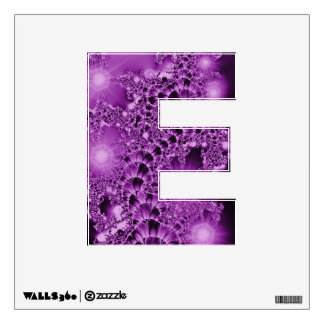 Fractal Purple Floral Vine with Lights Wall Decal