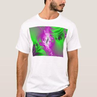 Fractal Purple Green Spring Dance T-Shirt