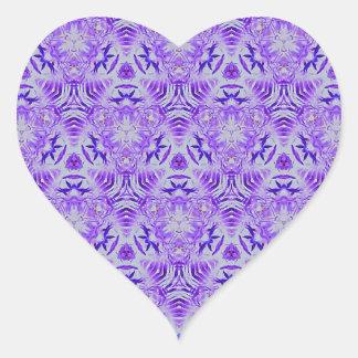 Fractal Purple lovers Seamless personal background Heart Sticker