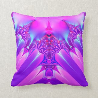 Fractal: Purple Passion Pillow