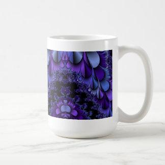 Fractal Purple Petals Cup Coffee Mug