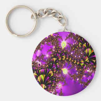 Fractal Purple Stairway to Heaven Keychains