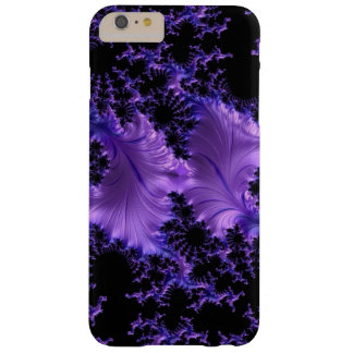 Fractal Purple Violet Blue Black Abstract 3D Barely There iPhone 6 Plus Case