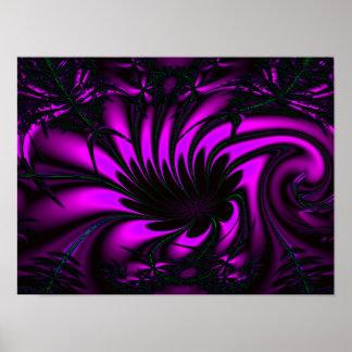 Fractal púrpura de la selva poster