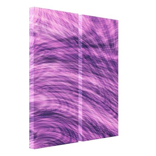 Fractal púrpura del abeto impresiones en lona estiradas