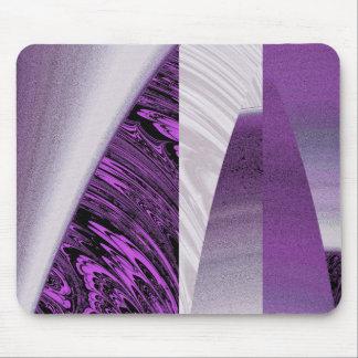 Fractal púrpura Mousepad del rascacielos