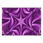 Fractal púrpura Starflower Tarjeta De Felicitación