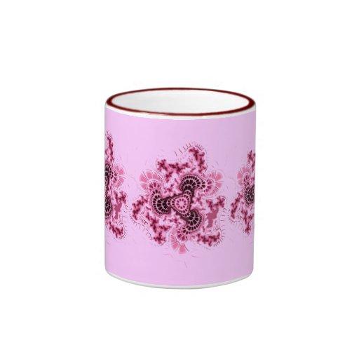 Fractal púrpura taza a dos colores