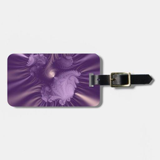 Fractal púrpura y de la lila 3D Etiquetas Bolsa