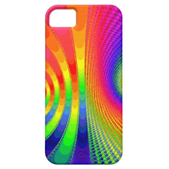 fractal rainbow art iPhone SE/5/5s case