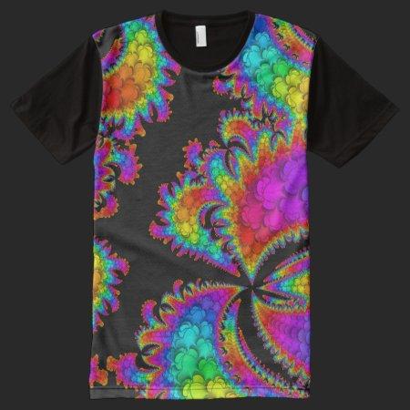 Fractal Rainbow Burst All-Over Print Shirt