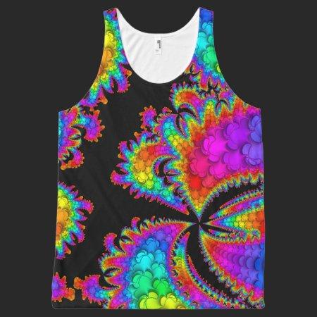 Fractal Rainbow Burst All-Over Print Tank Top